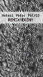 Hetesi P�ter P�l - Remixreg�ny [eK�nyv: epub,  mobi]