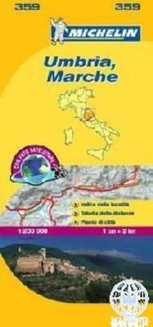 Michelin - Umbria, Marche t�rk�p - 2013