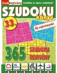 CSOSCH KIADÓ - ZsebRejtvény SZUDOKU Könyv 33.