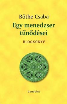 Bőthe Csaba - Egy menedzser tűnődései. Blogkönyv.