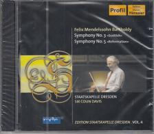 MENDELSSOHN - SYMPHONIES NOS.3&5,CD