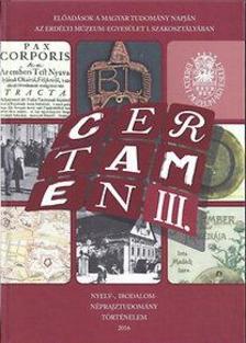 - CERTAMEN III.