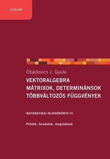 OB�DOVICS J. GYULA - Vektoralgebra, m�trixok, determin�nsok, t�bbv�ltoz�s f�ggv�nyek