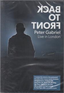 - BACK TO FRONT DVD PETER GABRIEL LIVE IN LONDON DVD
