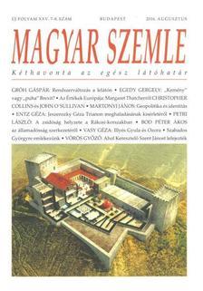 - MAGYAR SZEMLE - 2016. AUGUSZTUS