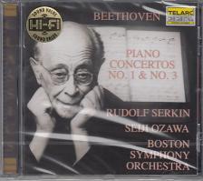 BEETHOVEN - PIANO CONCERTOS NO.1 & 3 CD SERKIN, OZAWA, BOSTON S.O.