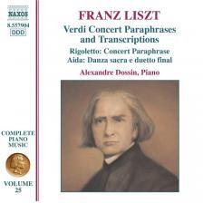 LISZT - VERDI CONCERT PARAPHRASES AND TRANSCRIPTIONS CD