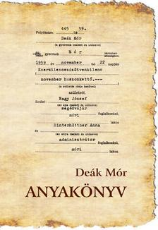 Deák Mór - Anyakönyv
