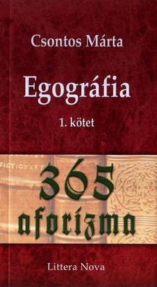 Csontos M�rta - EGOGR�FIA 1. - 365 AFORIZMA