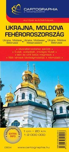 Cartographia Kiad� - UKRAJNA, MOLDOVA, FEH�ROROSZORSZ�G AUT�T�RK�P -