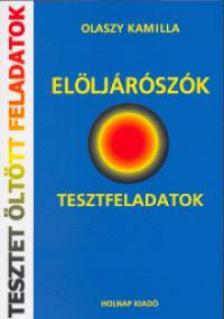 Olaszy Kamilla - EL�LJ�R�SZ�K - TESZTFELADATOK