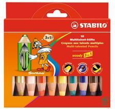 880/10 - STABILO WOODY 3 in 1 Jumbo 10 db-os színesceruza