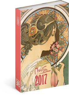 SmartCalendart Kft. - PG Alphonse Mucha, diary 2017, 10,5 x 15,8 cm