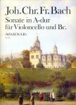 BACH, JOH. CHR. FR.  - SONATE IN A-DUR F�R VIOLONCELLO UND BC.,  HERAUSGEGEBEN VON WINFRIED MICHEL