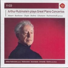 MOZART/BEETHOVEN/CHOPIN/BRAHMS/ - ARTHUR RUBINSTEIN PLAYS GREAT PIANO CONCERTOS 11CD