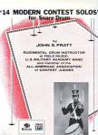 PRATT, JOHN S. - 14 MODERN CONTEST SOLOS FOR SNARE DRUM BY JOHN S. PRATT