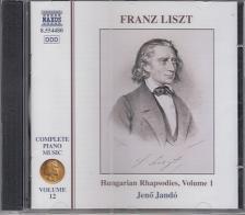 Liszt Ferenc - HUNGARIAN RHAPSODIES VOL.1 CD JAND� JEN�