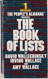 Wallace, Irving, Wallechinsky, David, Wallace, Amy - The Book of Lists [antikvár]