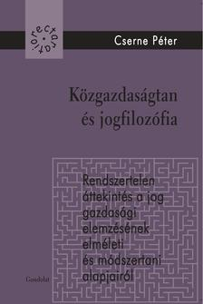 Cserne P�ter - K�zgazdas�gtan �s jogfiloz�fia