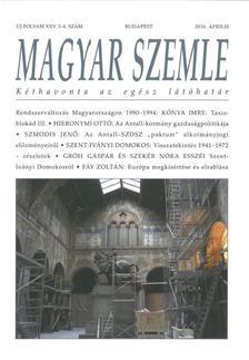 - MAGYAR SZEMLE - XXV. évf. 2016. 3-4. SZÁM.
