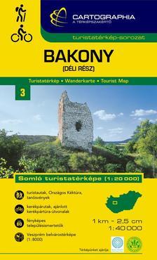Cartographia Kiadó - BAKONY (DÉLI RÉSZ) TURISTATÉRKÉP -