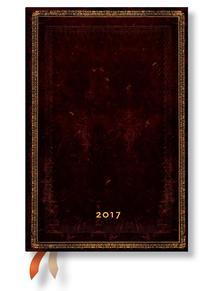 "- PB naptár 2017 MINI horizontális ""BLACK MOROCCAN"" DE3334-9"