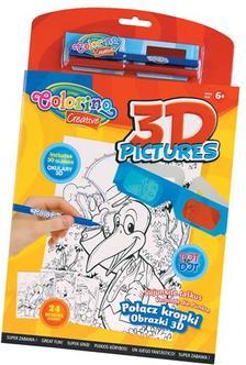 Colorino - Colorino Creative 3D PICTURES akt�v kifest�k�nyv 2db filctoll+3D szem�veg