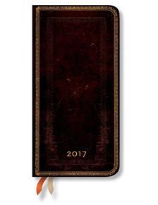 "- PB naptár 2017 SLIM verso"" BLACK MOROCCAN"" DE3387-5"