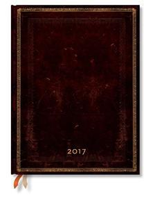 "- PB napt�r 2017 ULTRA horizont�lis ""BLACK MOROCCAN""  DE3459-9"