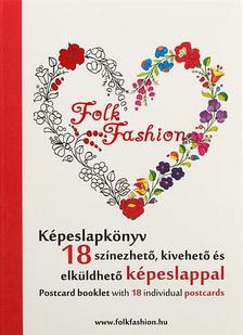 - Folk Fashion k�peslapk�nyv - 18 sz�nezhet�, kivehet� �s elk�ldhet� k�peslappal