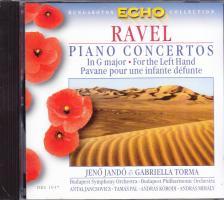 RAVEL - PIANO CONCERTOS IN GA MAJOR & FOR THE LEFT HAND CD PIANO: JANDÓ JENŐ & TORMA GABRIELLA