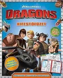 - Dragons - kifestőfüzet matricákkal