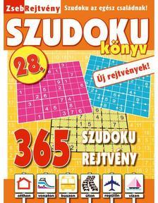 CSOSCH KIAD� - ZsebRejtv�ny SZUDOKU K�nyv 28.