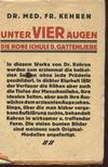 Fr. Kehren, dr. - Unter vier Augen [antikv�r]