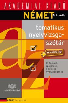 - Német-magyar tematikus nyelvvizsgaszótár+NET