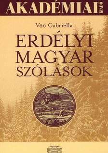 Vöo Gabriella - Erdélyi magyar szólások