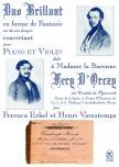 ERKEL FERENC-VIEUSTEMPS,HENRI - DUO BRILLANT EN FORME FANTASIE SUR DES AIRS HONGROISE POUR PIANO ET VIOLON