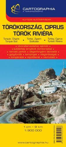 Cartographia - Törökország,Ciprus,Török Riviéra `SC`